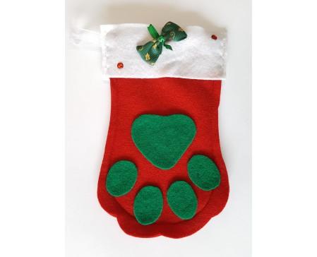 Christmas Stocking - Pet Paw