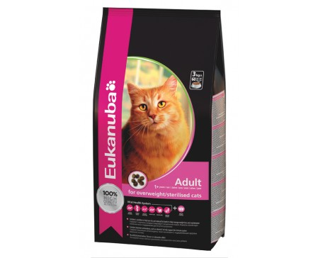 Eukanuba Cat Adult Overweight / Sterilised Chicken & Liver