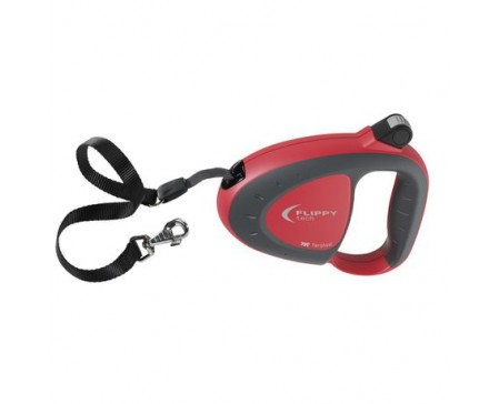 Flippy Tech Cord Extendable Dog Leash - Large Red