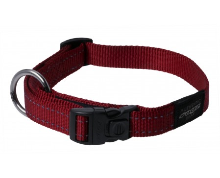 Rogz Dogz Fanbelt SR Collar L Red