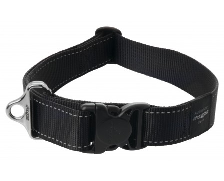 Rogz Beltz Landing Strip SR Dog Collar XXL Black