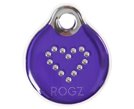 Rogz Dogz Resin ID Tagz L  Purple Chrome