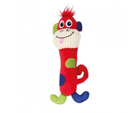 Pawise Vivid Life Plush Small Dog & Puppy Toy Stick Monkey