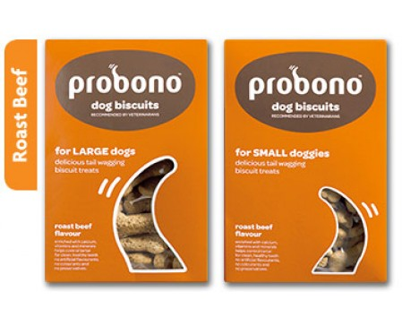Probono Beef Dog Biscuits Large Breed