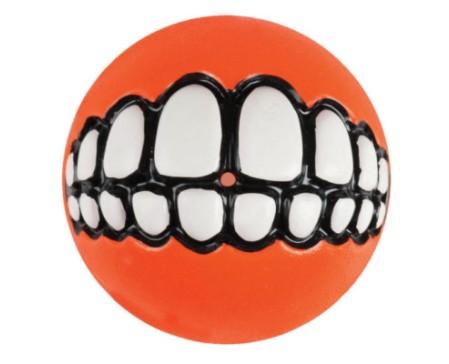 dog-ballz-grinz-ball-small-orange