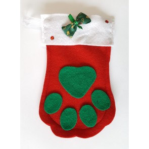 Christmas Stocking - Pet Paw
