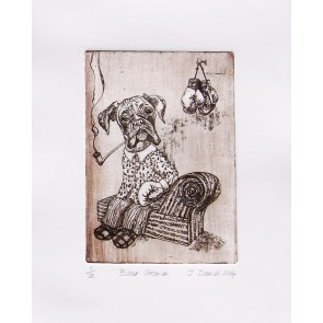 Pickwood Etchings - Boxer
