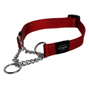 Rogz Dogz Snake Obedience Collar M Red