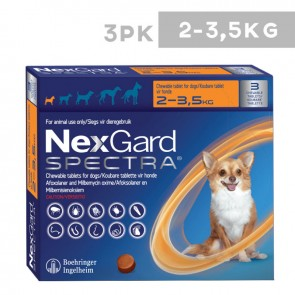 Nexgard Spectra Chewable Tablets for Dogs (Pack of 3)