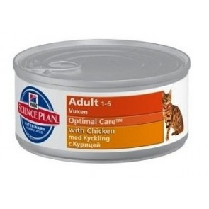 Science Plan Feline Adult Optimal Care Chicken Tin (82g)