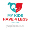 """My kids have 4 legs"" Car Sticker - Colour"